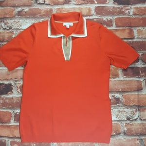 Worn Once! Eva Mendes NY&Co Red Knit Polo size M